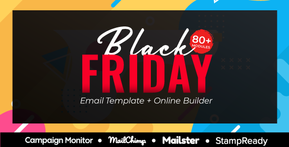 BlackFriday – CyberMonday Multipurpose Responsive Email Template + Online Builder + MailChimp Editor - Newsletters Email Templates
