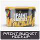 Plastic Paint Bucket Mock-Up v2 - GraphicRiver Item for Sale