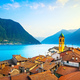 Colonno village, Como Lake district landscape. Italy, Europe. - PhotoDune Item for Sale