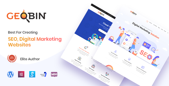 GeoBin | Digital Marketing Agency and SEO WordPress Theme - Marketing Corporate