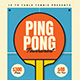 Retro Ping Pong Tournament Event Flyer - GraphicRiver Item for Sale