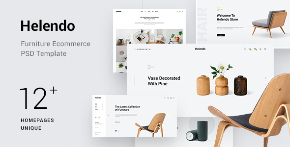 Helendo - Minimalist Furniture eCommerce PSD Template