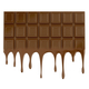 Melted chocolate bar on white background - PhotoDune Item for Sale