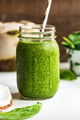 Spinach with Coconut water,Chia seed Smoothie - PhotoDune Item for Sale