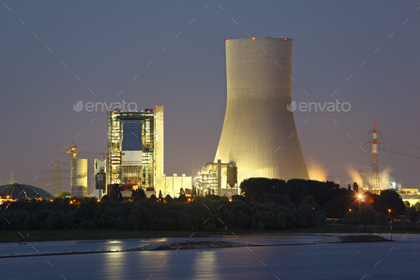 Power Station Construction Site - Stock Photo - Images