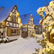 Free Download Snowy Christmas Street At Night, Germany Nulled