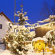 Free Download Christmas Tree With Snow At Night, Germany Nulled