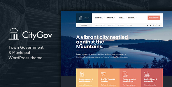 CityGov - City Government & Municipal WordPress Theme - Political Nonprofit