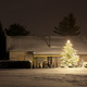 Free Download House With Snow And Tall Christmas Tree At Night, Germany Nulled