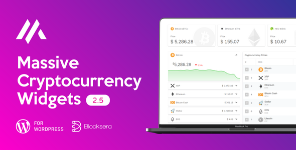 Massive Cryptocurrency Widgets - CodeCanyon Item for Sale