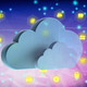 Cloud computing and mobile apps. Blue clouds on abstract tech background. 3d illustrationn - PhotoDune Item for Sale