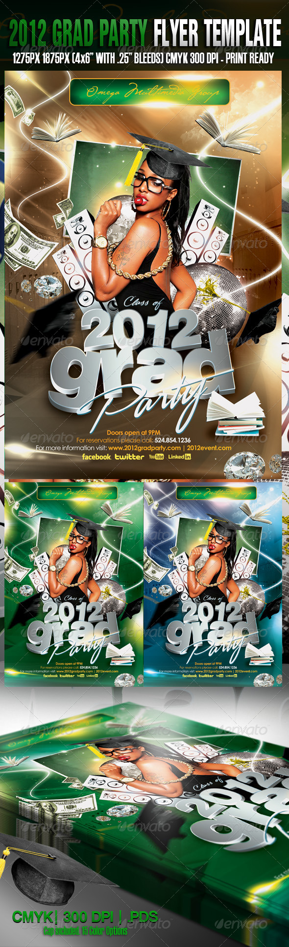 2012 Grad Party Template - Events Flyers