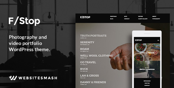 FStop - Photography & Video Portfolio WordPress Theme - Photography Creative