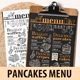 Pancakes Menu Template - GraphicRiver Item for Sale