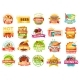 Street Food Menu Icons - GraphicRiver Item for Sale