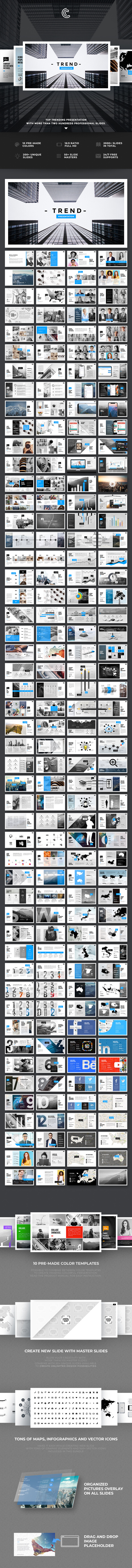 Trend PowerPoint - PowerPoint Templates Presentation Templates