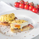 Eggs Benedict on the white plate - PhotoDune Item for Sale