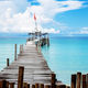 Wooden bridge at the sea - PhotoDune Item for Sale