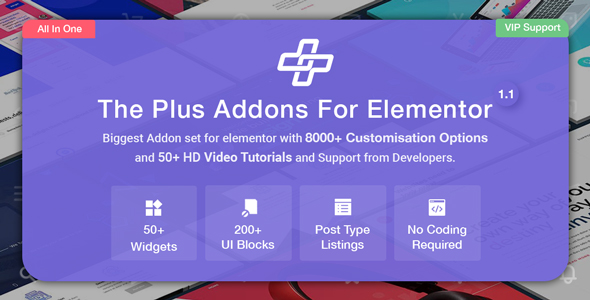 The Plus - Addon for Elementor Page Builder WordPress Plugin - CodeCanyon Item for Sale