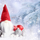 Christmas gnome with festive decorations on a background snow-co - PhotoDune Item for Sale