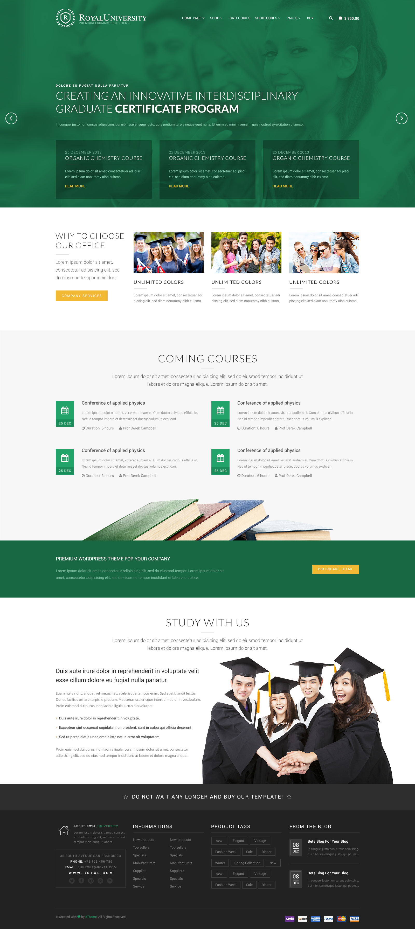 Royal Multi Purpose WordPress Theme by 8theme