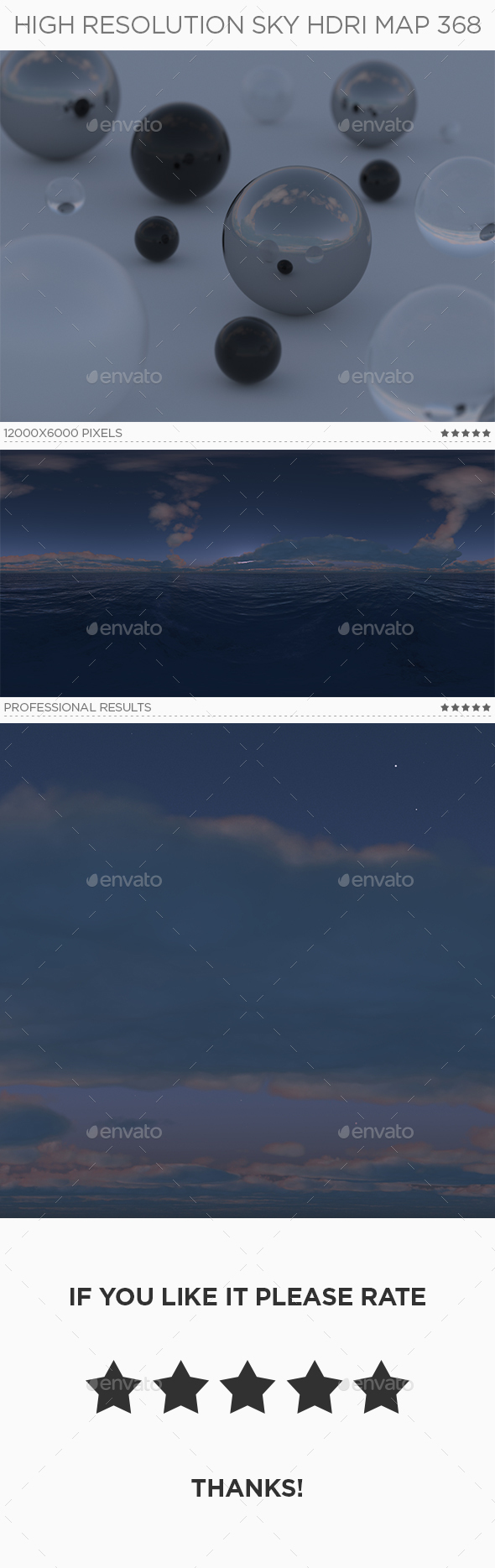 High Resolution Sky HDRi Map 368 - 3DOcean Item for Sale