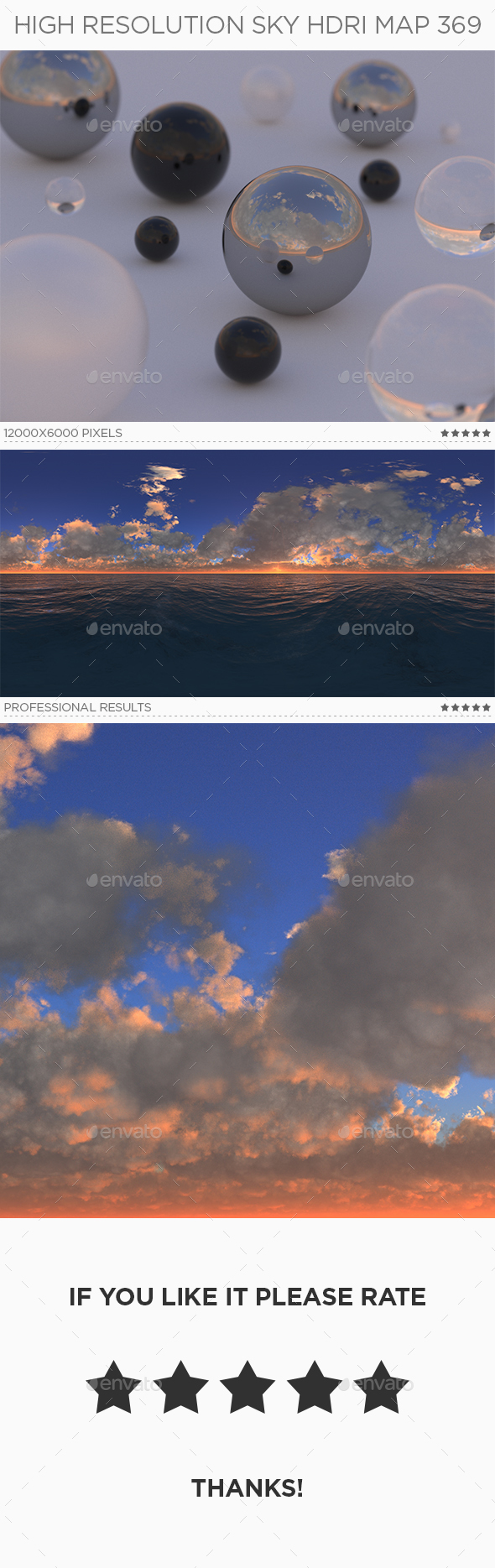 High Resolution Sky HDRi Map 369 - 3DOcean Item for Sale