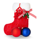 Red Santa's boot isolated on white background. - PhotoDune Item for Sale