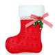Red Christmas boot on white background isolated. - PhotoDune Item for Sale