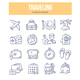 Traveling Doodle Icons - GraphicRiver Item for Sale