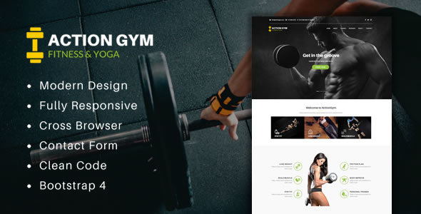 Action Gym - Responsive Gym & Fitness HTML Template - Health & Beauty Retail