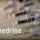Chemical composition of ephedrine next to syringe, conceptual image - PhotoDune Item for Sale