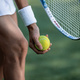 Tennis player in sportswear with a ball - PhotoDune Item for Sale