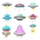 Alien Spaceships - GraphicRiver Item for Sale