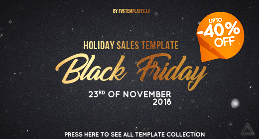 Black Friday Sales up to -40% for FVS After Effects Template