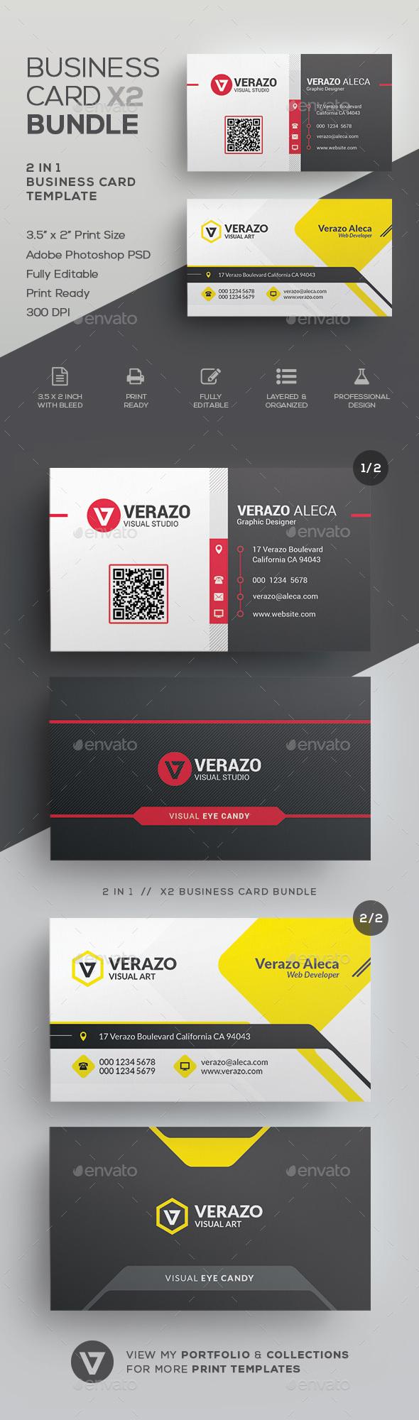 Business Card Bundle 58 - Corporate Business Cards