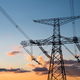 power transmission tower with sunset glow - PhotoDune Item for Sale