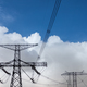 high voltage pylon against a blue sky - PhotoDune Item for Sale