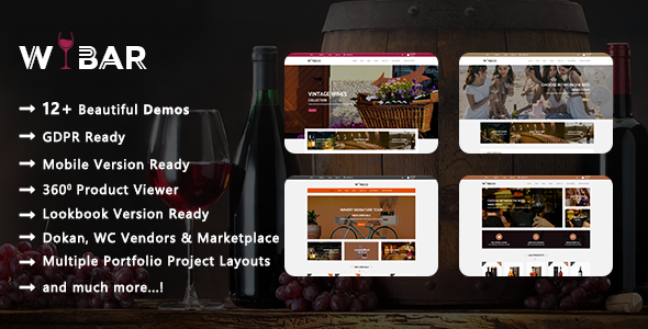 Wibar - Wine, Winery and Vineyard WooCommerce WordPress Theme - WooCommerce eCommerce