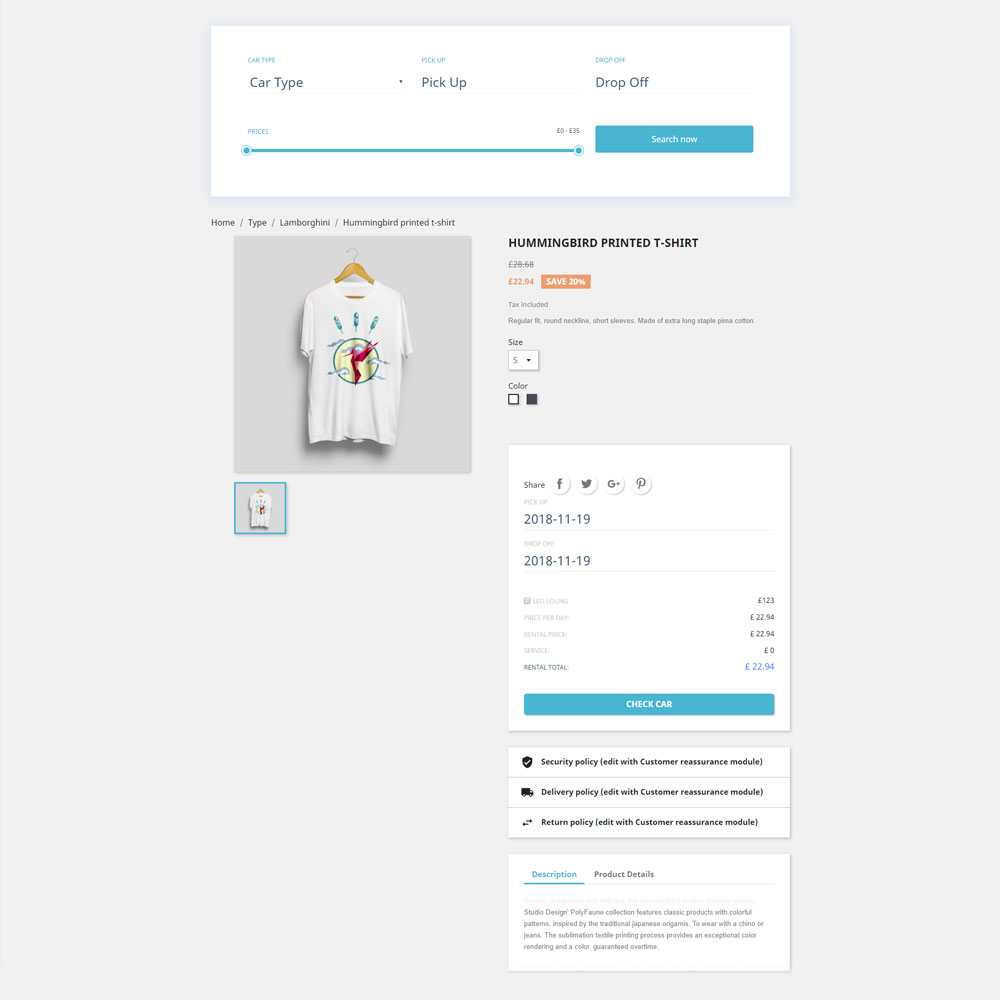 Ap Carrental Prestashop Module for Car Rental Website