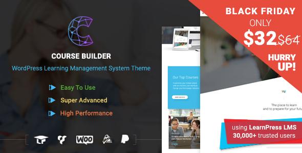 WordPress LMS Theme for Online Courses, Schools & Education   Course Builder