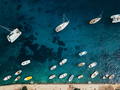 Aerial view photo of picturesque port with sailboats and yachts - PhotoDune Item for Sale