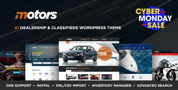 Motors - Automotive, Car Dealership, Car Rental, Auto, Classified Ads, Listing WordPress Theme - Directory & Listings Corporate