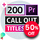 Line Call Out Titles for Premiere Pro - VideoHive Item for Sale