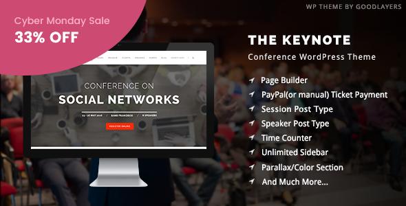 The Keynote - Conference / Event / Meeting WordPress Theme - Education WordPress