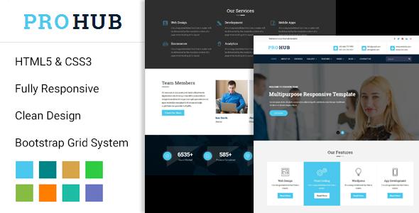 Prohub Multipurpose Responsive HTML5 Template