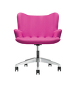 The office chair from pink leather isolated on white background - PhotoDune Item for Sale