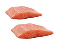 Raw salmon fillets isolated on white background - PhotoDune Item for Sale