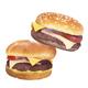 Two Big hamburgers on white background - PhotoDune Item for Sale