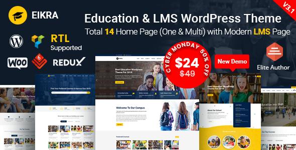Eikra Education - Education WordPress Theme - Education WordPress